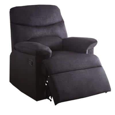 Arcadia Black Woven Fabric Relaxing Recliner