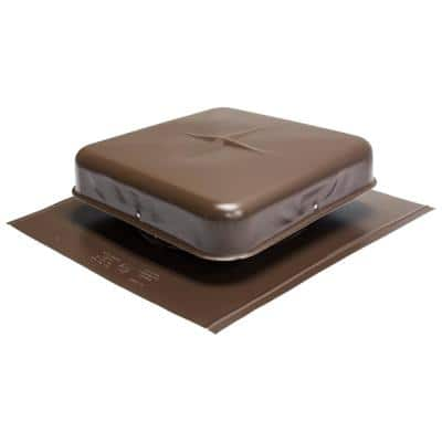 50 sq. in. NFA Aluminum Square-Top Roof Louver Static Vent in Brown (Carton of 12)