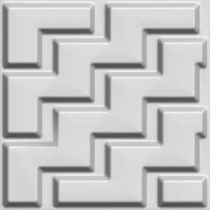 Falkirk Fifer 20 in. x 20 in. Paintable Off White Chevron Zigzag Fiber Decorative Wall Paneling (5-Pack)