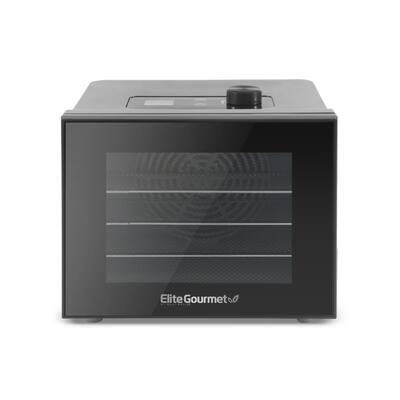 Gourmet Black Digital Food Dehydrator with 4 Trays