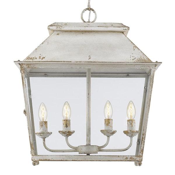 Golden Lighting - Abingdon Collection 4-Light Antique Ivory Pendant