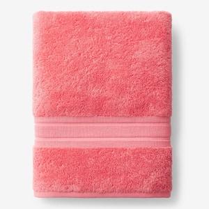 Company Cotton Coral Solid Turkish Cotton Bath Sheet