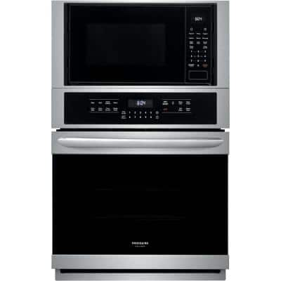27 in. Electric True Convection Wall Oven with Built-in Microwave in Stainless Steel