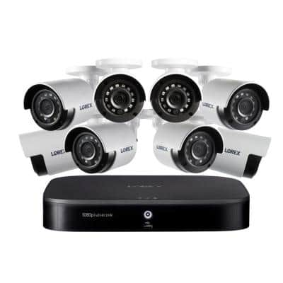 8-Channel 1080p HD 1TB HDD DVR Security Camera System with Eight Bullet Cameras