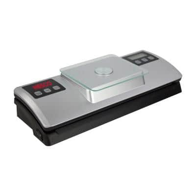 Silver Food Vacuum Sealer with Bag Cutter