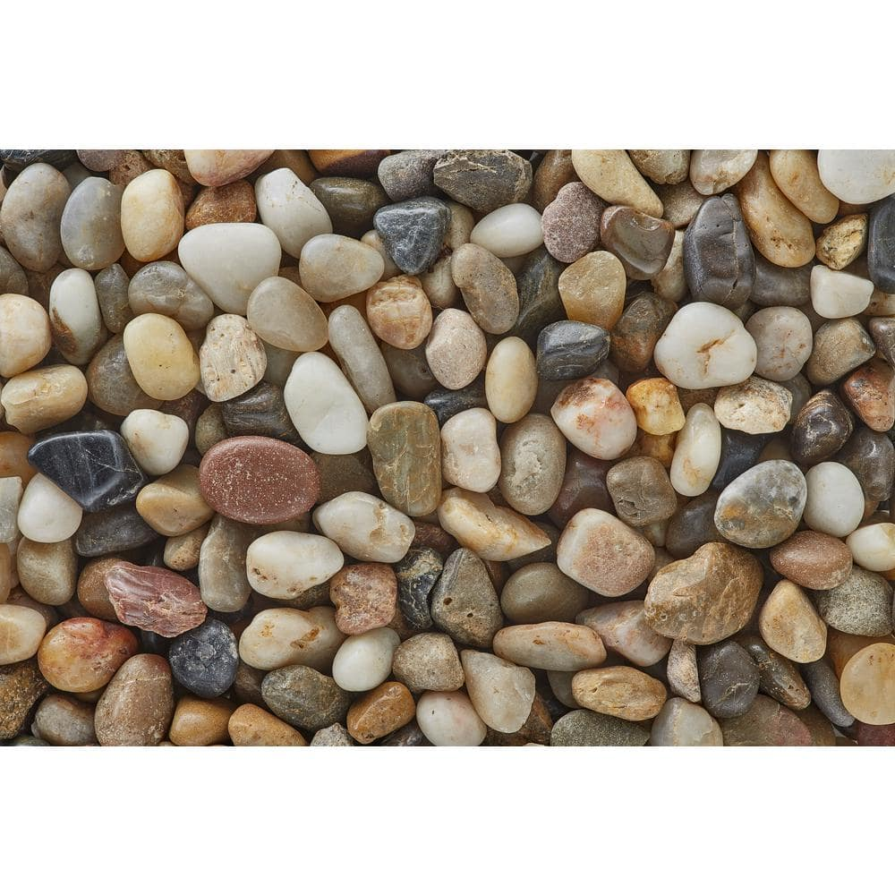 3 8 In Polished Mixed Gravel 20 Lbs Bag Pm20 0510 The Home Depot