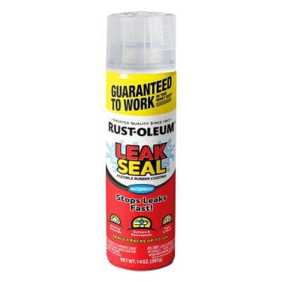 15 oz. LeakSeal Clear Flexible Rubber Coating Spray Paint (6-Pack)