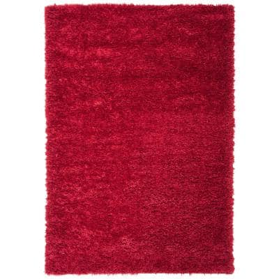 Red Shag Area Rugs Rugs The Home Depot