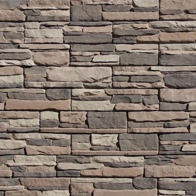Easy Stack 5 in. x 20 in. Clover Dale No Mortar Concrete Ledge Stone Flat Panel 4.9 sq. ft. per box