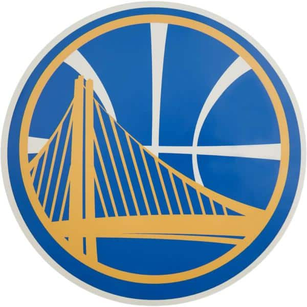 Applied Icon Nba Golden State Warriors Outdoor Logo Graphic Large Nbop1003 The Home Depot