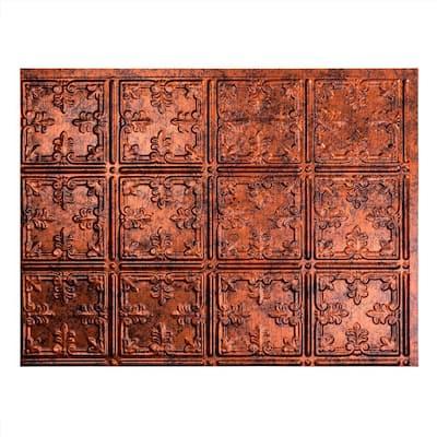18.25 in. x 24.25 in. Traditional #10 Vinyl Backsplash Panel in Moonstone Copper (5-Pack)