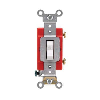 15/20 Amp Industrial Toggle Switch, White