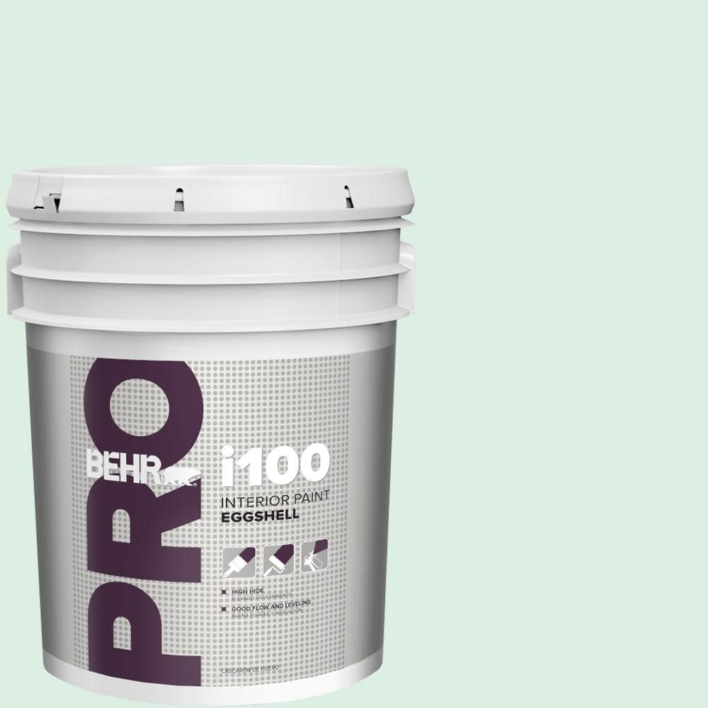 Behr Pro 5 Gal M420 1 Sparkling Brook Eggshell Interior Paint Pr13005 The Home Depot