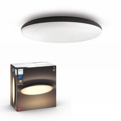Cher 18.7 in. White Ambiance LED Flush Mount