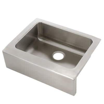 Lustertone Stainless Steel 25 in. Farmhouse Apron Front Single Bowl Kitchen Sink