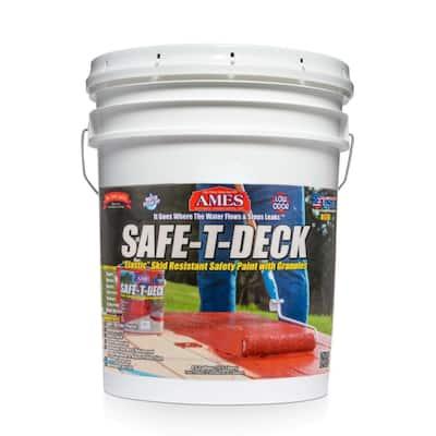 Safe-T-Deck 5 gal. Red Slip Resistant Waterproof Deck Coating