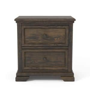 Ranell 2-Drawer Walnut Nightstand