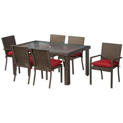 CHAIR 6PK BEVERLY 7PC DINING RED