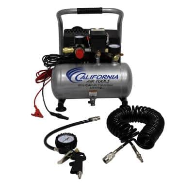 Light and Quiet 1.0 Gal. 12-Volt (Car Battery Operated) Steel Tank Portable Air Compressor