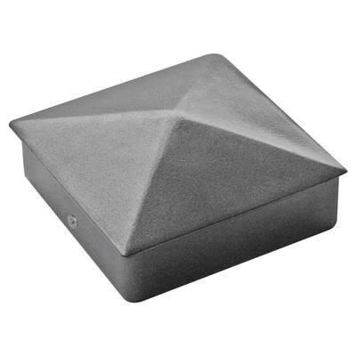 4 in. x 4 in. Powder Coated Aluminum Pyramid Post Cap