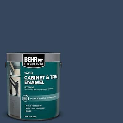 1 gal. #MQ5-54 Compass Blue Satin Enamel Interior Cabinet and Trim Paint