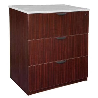 Legacy Mahogany Stand Up Lateral File without Top