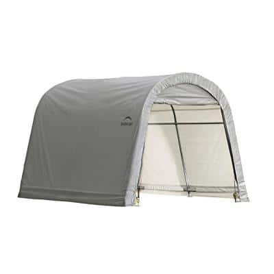 ShelterLogic 10-ft W x 10-ft D x 8-ft H Steel and Polyethylene Garage without Floor in Grey w/ Corrosion-Resistant Frame