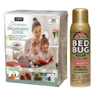Queen Bed Bug Mattress Cover and Bed Bug Spray - Value Pack