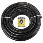 1 in. x 100 ft. Black PVC Schedule 40 Flexible Pipe with Gorilla Glue