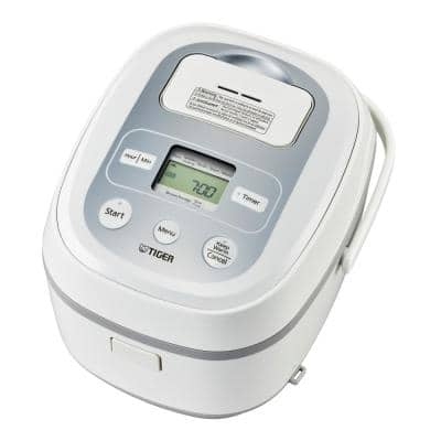 JBx-B, 10-Cup, White, Micom Rice Cooker with Tacook Cooking Plate