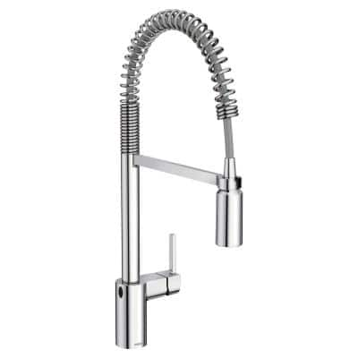 Align Touchless Single-Handle Pull-Down Sprayer Kitchen Faucet with MotionSense Wave and Spring Spout in Chrome