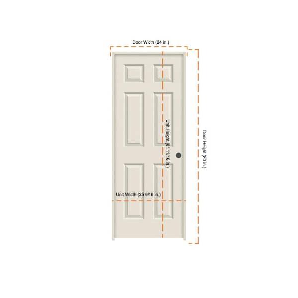 Jeld Wen 24 In X 80 In Colonist Primed Left Hand Textured Molded Composite Mdf Single Prehung Interior Door Thdjw136500884 The Home Depot