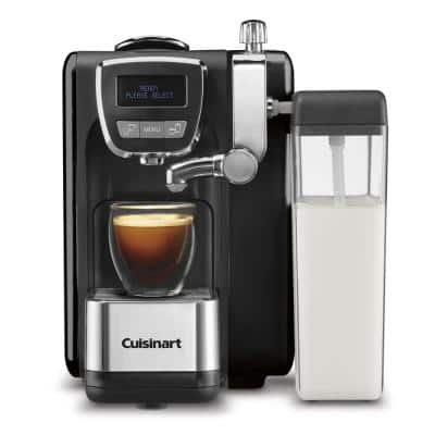 1-Cup Espresso Defined Black Espresso, Cappuccino and Latte Machine