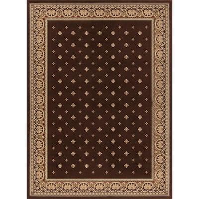 Ankara Pin Dot Brown 5 ft. x 7 ft. Area Rug