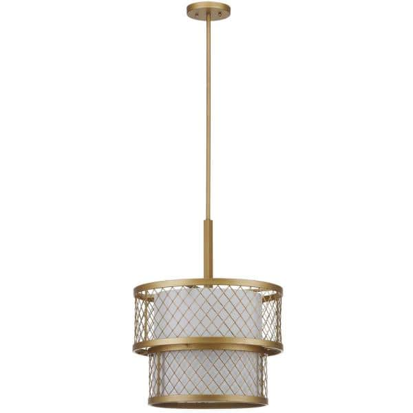 Safavieh Evie Mesh 6 Light Antique Gold, Gold Mesh Lamp Shade