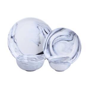 Antwerp 16-Piece Grey Marble Porcelain Dinnerware Set (Service for 4)
