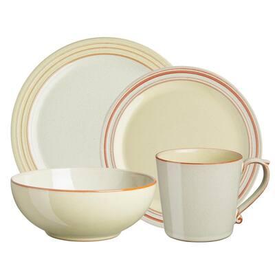 Heritage Veranda 4-Piece Multi-Colored Dinnerware Set