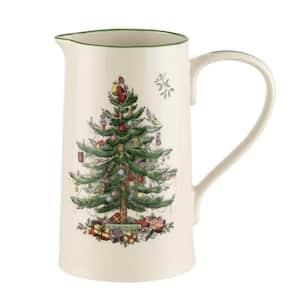 Christmas Tree 32 fl. oz. White Ceramic Jug