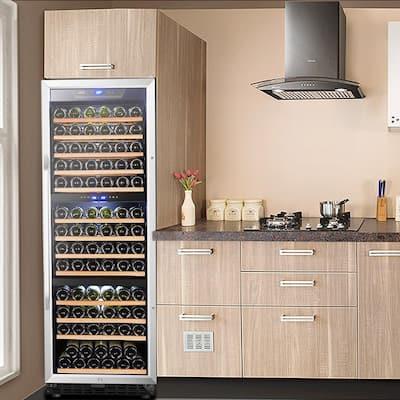 23 in. 149-Bottle Stainless Steel Triple Zone Wine Refrigerator