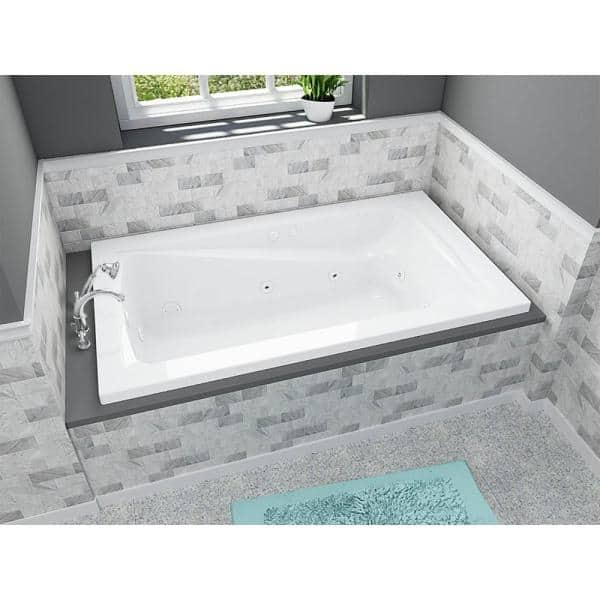American Standard Green Tea 72 In X 42 In Reversible Drain Ecosilent Everclean Whirlpool Tub In White 3575 048wc 020 The Home Depot