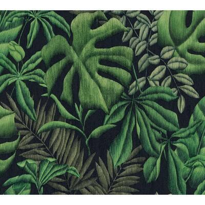 Strippable Sapo Green Tropical Foliage Wallpaper