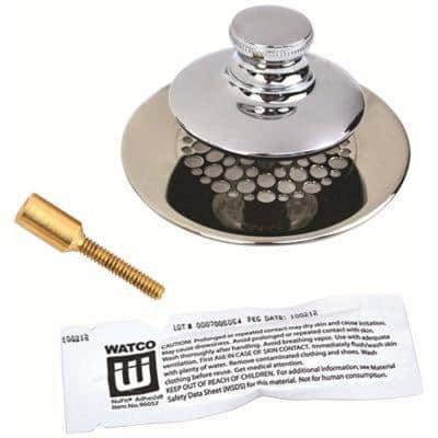 2.78 in. Universal Nufit Tub Closure Push/Pull with Grid Strainer with Brass Pin Silicone
