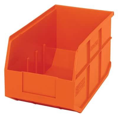 Stackable Shelf 14-Qt. Storage Tote in Orange (12-Pack)
