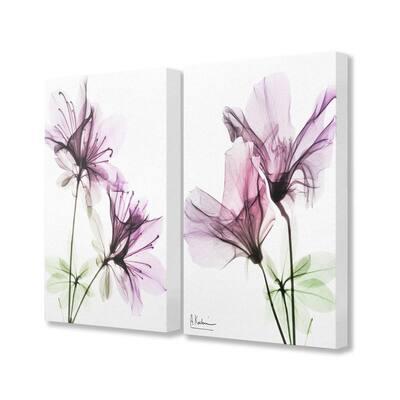 """""""Purple Flower Bloom Design"""" by Albert Koetsier Canvas Nature Wall Art 30 in. x 24 in."""