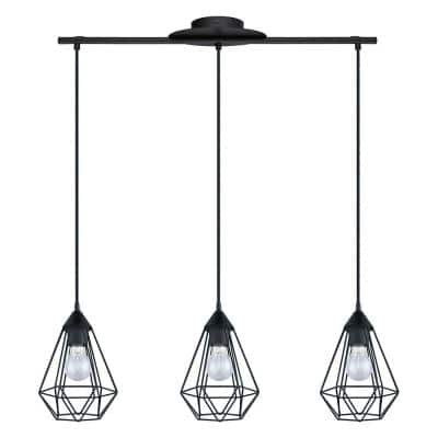 Tarbes 31.06 in. W 3-Light Matte Black Linear Pendant