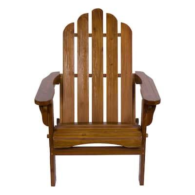Marina II 37 in. Tall Oak Cedar Wood HYDRO-TEX Finish Adirondack Folding Chair