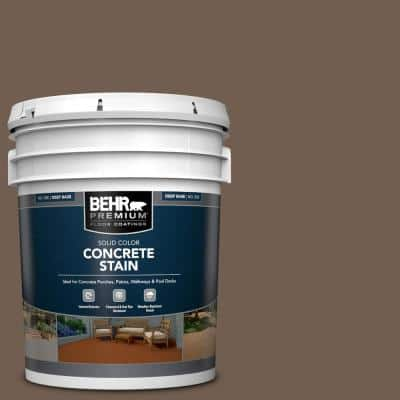 5 gal. #PFC-35 Rich Brown Solid Color Flat Interior/Exterior Concrete Stain