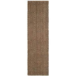 Natural Fiber Beige/Gray 2 ft. 3 in. x 20 ft. Indoor Runner Rug