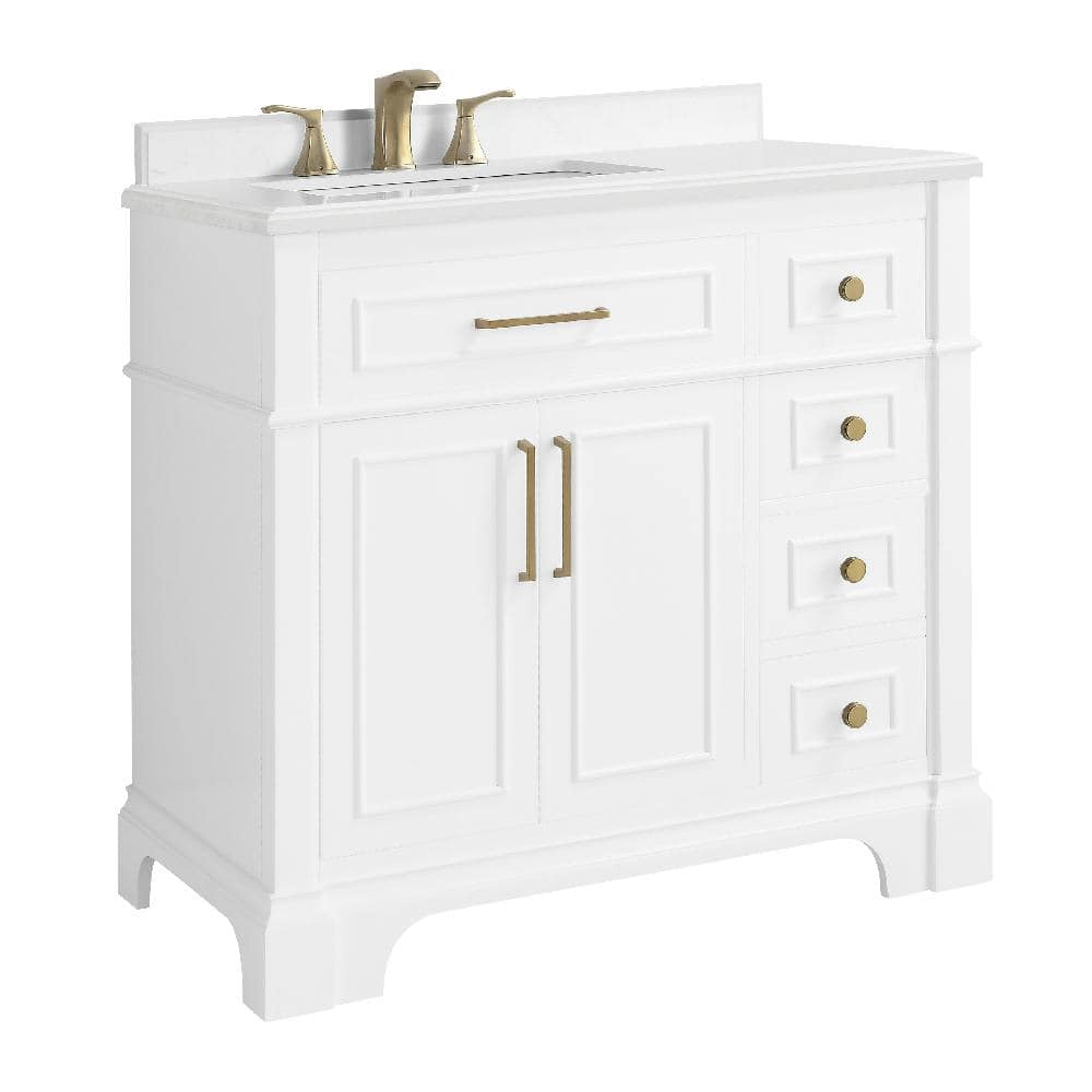 Home Decorators Collection Melpark 36, White 36 Inch Bathroom Vanity