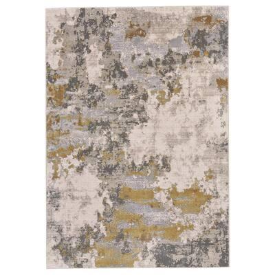 Vanhorn Gold/Birch 8 ft. x 11 ft. Abstract Area Rug